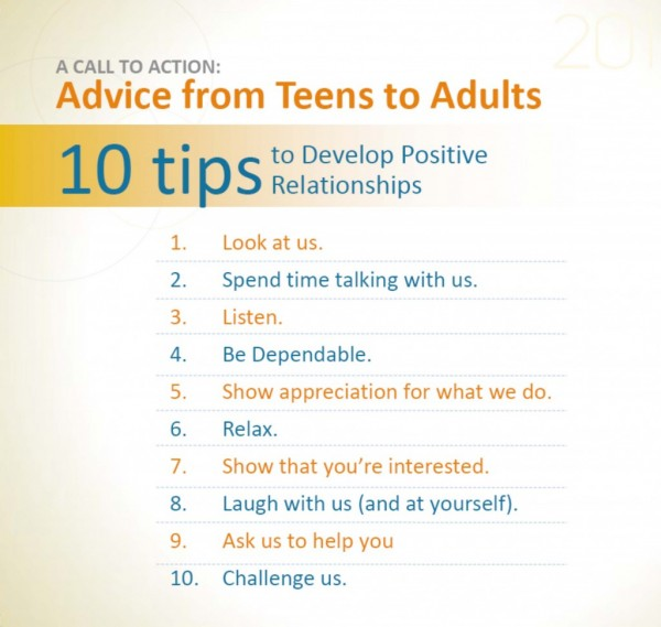 What teens want from adults